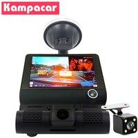 Kampacar 4 Three Camera Lens Dvrs With Two Cameras Video Recorder Full HD 1080P For Cars Dash Cam Registratore Auto Car Dvr