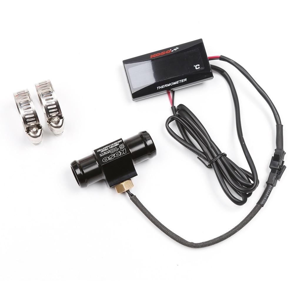 Image 5 - SMOK Universal Motorcycle Thermometer Instruments Water Temp  Temperature Digital Display Meter Gauge Sensor Adapter For  KOSOInstruments   -