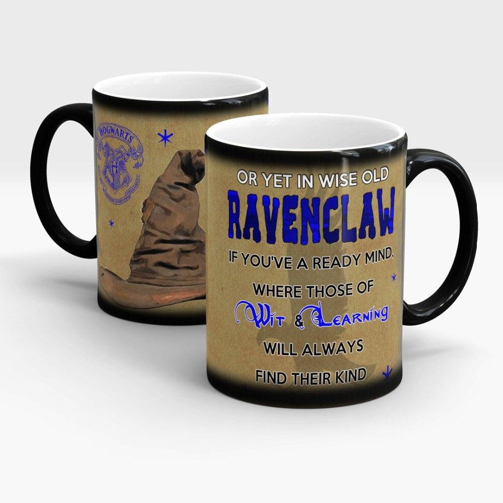 marauders map mugs heat reveal Hogwarts Sorting Hat Hufflepuff mugs Slytherin mug Gryffindor mug Ravenclaw ceramic