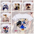 2016 Anime T-shirt  Print Saber Fate stay night T shirt Short Sleeve Casual cosplay costume  Fate Zero Japan cartoon XD-053