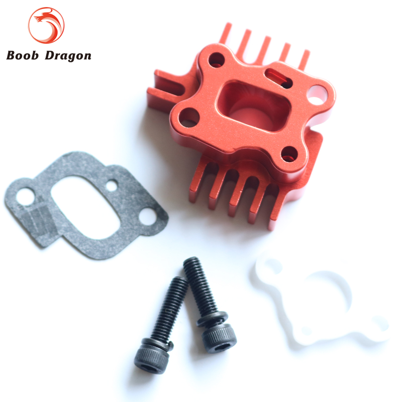 Baja CNC Billet Intake Manifold for 23-30.5cc engine zenoah cy for hpi km rovan Baja 5b 5T / Losi 5ive-T engine fan cylinder cover pull start fit zenoah cy for hpi baja rv km 5b 5t 5sc parts