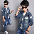 Boy Denim Blazer Jacket  Fashion Children Spring Clothes