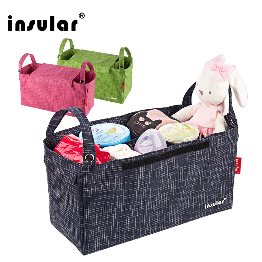 Insular wasserdichte Kinderwagen Taschen multifunktionale Windel Wickeltasche Innenbehälter Windeltaschen für Kinderwagen