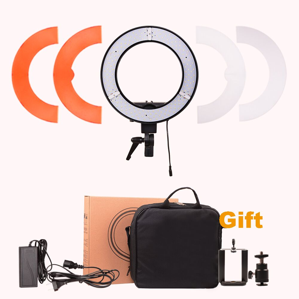 DIGITALFOTO 12 35W 240pcs LED Ring Light Youtube Makeup lamp barber shop 5500K Dimmable Warm/Cold Photo/Studio/Phone/Video ...