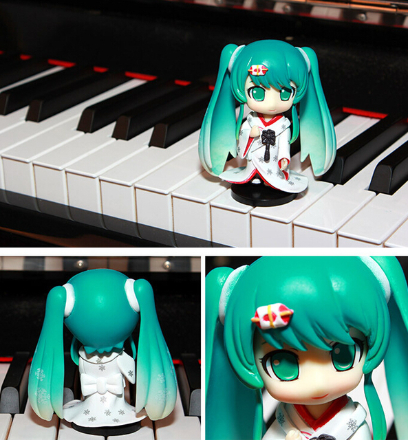 8-10cm 4pcs/set Hatsune Miku Action Figures PVC brinquedos Collection Figures toys for christmas gift Free shipping