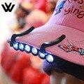 A Pesca da noite Luz 5 LED Clip-On Clipe Hat Cap Lâmpada de Pesca Acampamento Ao Ar Livre Lâmpada de Pesca Farol ferramenta livre grátis