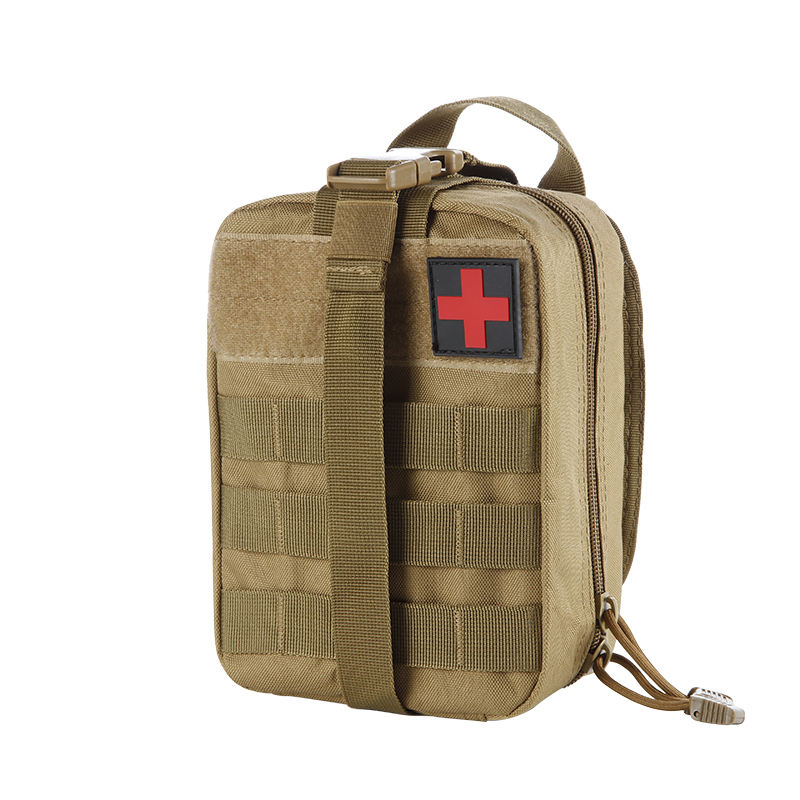 Outdoor Molle Pouch Waterproof Nylon First Aid Kit Pockets Large Capacity Tactical Backpack Camping Hiking