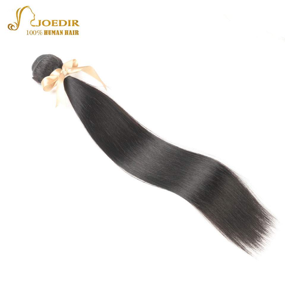 Joedir Peruvian Hair Extension Straight Hair 100% Human Hair Weave Bundles 8-30inch Remy Hair Weaving 1 Pcs Can Order 3 or 4 Pcs