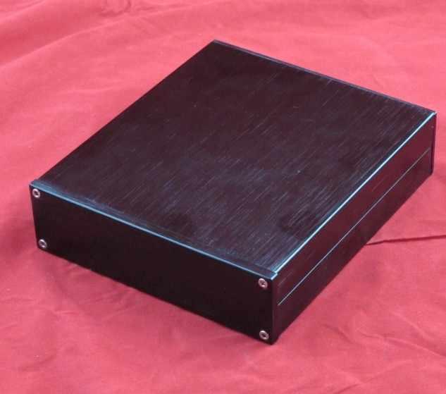 Hitam mini Semua aluminium CDROM chassis kecil/DAC decoder/preamplifier/AMP Enclosure/kasus/DIY box (148*42*169mm)