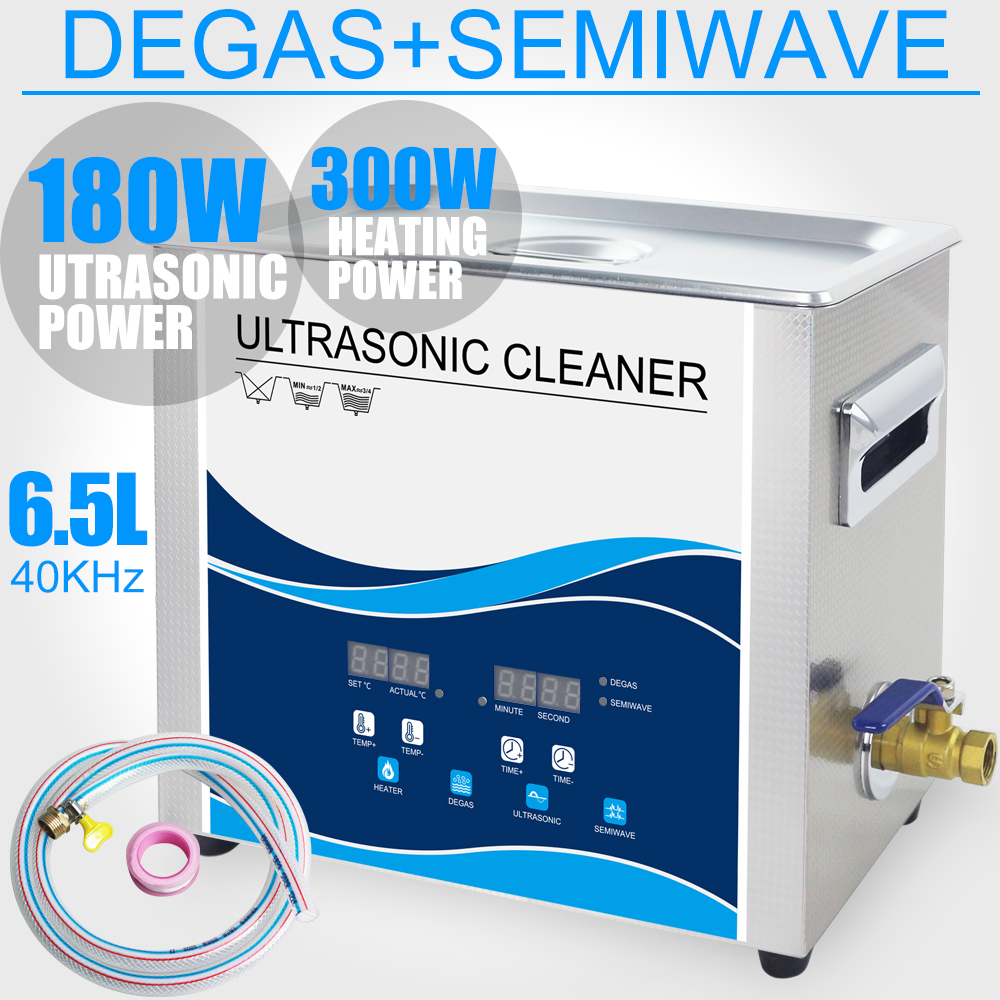 цена на 6.5L Ultrasonic Cleaner Bath 180W 40KHZ Degas Heater Ultrasound Lab Dental Tools Sterilizer Cleaning Circuit board Car Chains