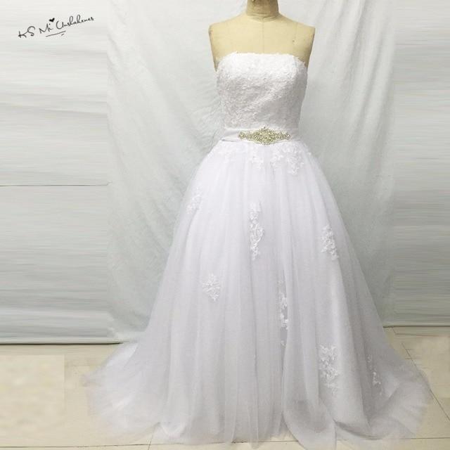 Vestidos De Noiva 2017 Gorgeous Biały Ivory Suknia Suknie ślubne