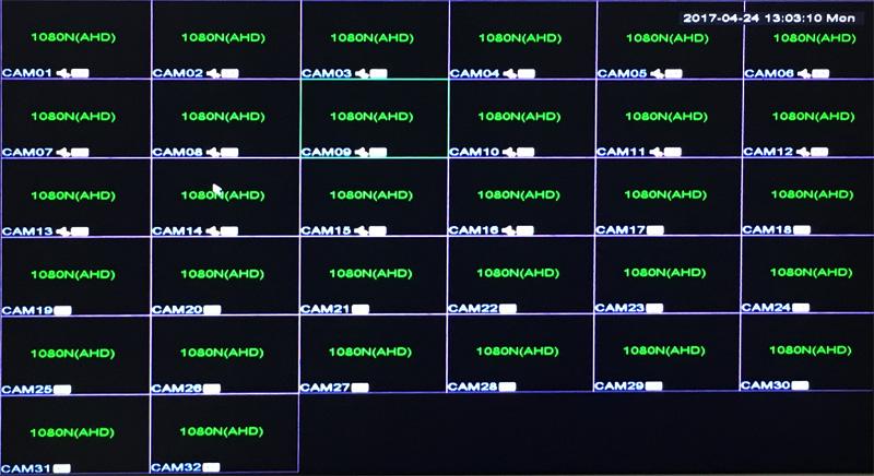 32CH Hybrid 5 in 1 NVR TVI CVI AHD CCTV DVR Operation Picture 01