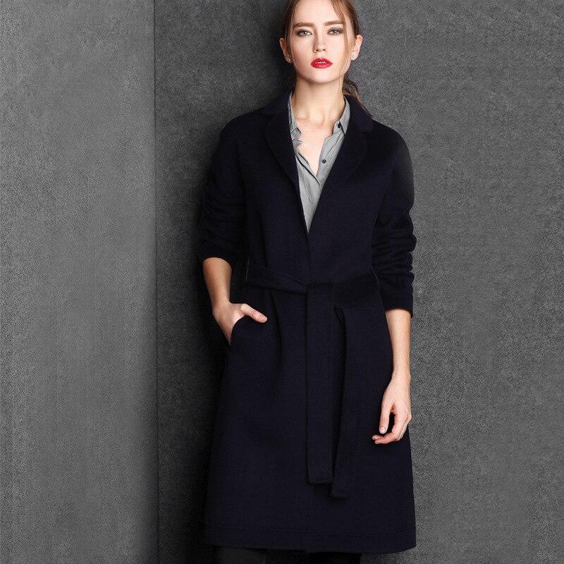 Новое Прибытие Женщин Пальто Зимой и Осенью Пальто Повелительницы Пальто Тонкий Ветровка Пояс Длинные Верхняя Одежда F124