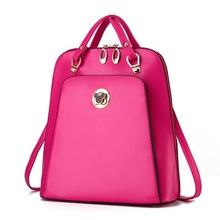 New Fashionable PU Leather Bag Leisure Joker Shoulder Bag Pure Color Female Casual Messenger Bags
