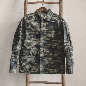 Image 4 - Madden single breasted multi bolso m a xxl tamanho camuflagem jaqueta lapela utilitário encerado lona casual algodão militar jaqueta