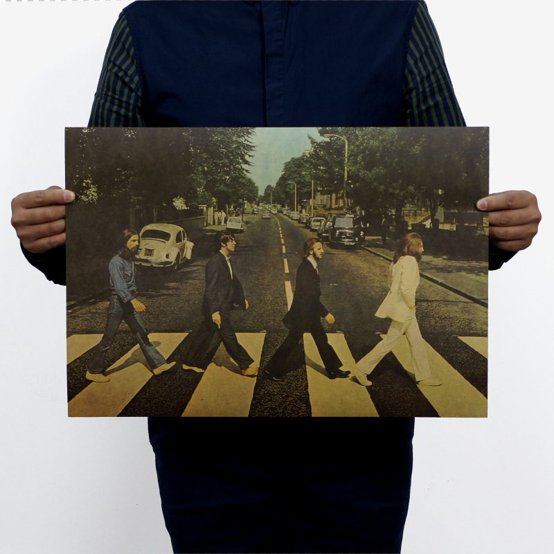 The Beatles 2 Style Vintage Movie Poster Hotel Soft Vintage Posters Decorate Adornment Picture Wall Stickers Posters for Walls