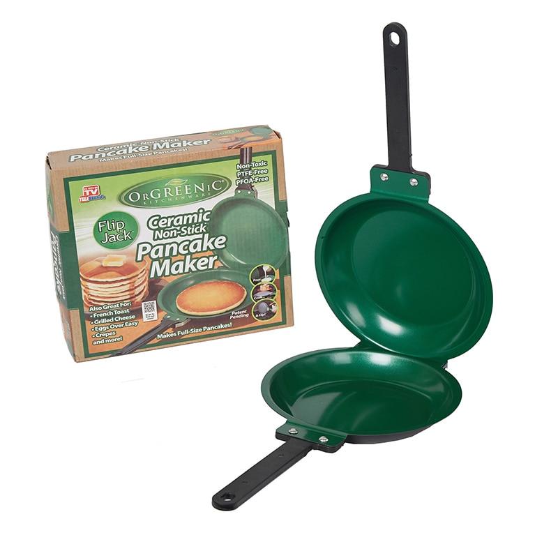 Flip Jack Pan Ceramic Pancake Maker Non-stick Cake Pan Fryer Cakeware Double Sided Frying Pan