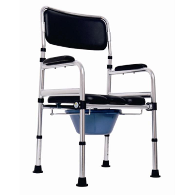 Ausdrucksvoll Heißer Verkauf Kommode Wc Stuhl Hohe Qualität Aluminium Legierung Kommode Stuhl Mit Bettpfanne Für ältere Und Behinderte