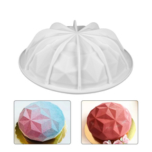 Silicone Cake Mold 3D Diamond Shaped Mousse Fondant Dessert Molds Chiffon Chocolate Cakes Moulds for Baking Kitchen Tools