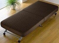 Раскладные гость раскладная кровать диван с эффектом памяти Спальня мебель Портативный раскладная кровать детская кроватка с 4 Колёсики уд