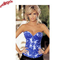 SALE in stock Blue Sky Demin Corset busty sexy corset tight lacing corset women lingerie waist slimming control shapewear
