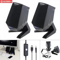 Wooden Full Range 3D Stereo Subwoofer PC Speaker Portable bass Music DJ USB Computer Speakers For laptop Phone TV