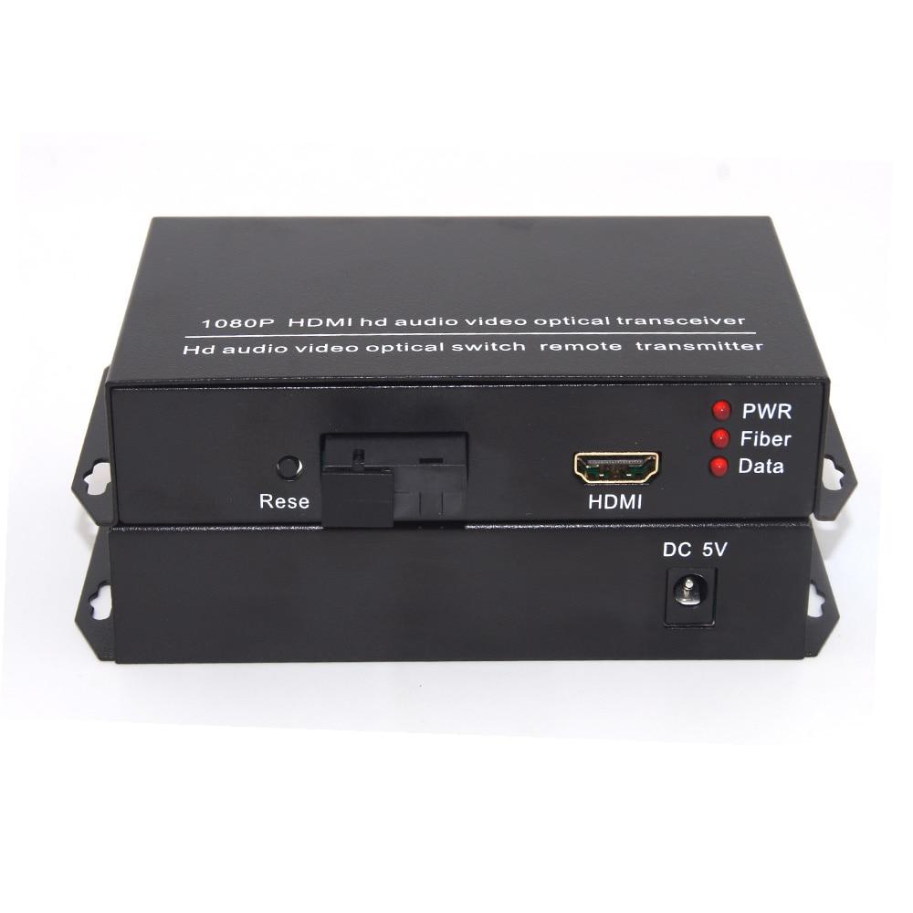 کیفیت بالا 1080P HDMI توسعه دهنده ویدیو و سیگنال صوتی بیش از فیبر S / M 20Km ، پورت فیبر SC
