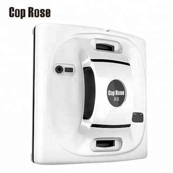 警官ローズ X6 自動窓清掃ロボット、インテリジェントワッシャー、リモート制御、抗秋 UPS アルゴリズムガラス真空クリーナーツール