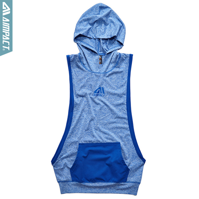Aimpact Men's Tank Top Hoodie Fitness