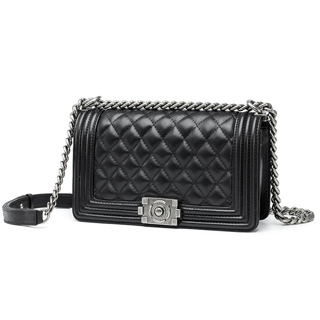 Women S Fashion Double Use Quilted Chain Bag Cross Body Message Brand Le Boy Handbag