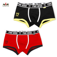 Фотография PINK HERO Brand men underwear cotton boxer shorts underpants sexy male panty mens seamless panties shorts man lingerie 2 pcs/lot