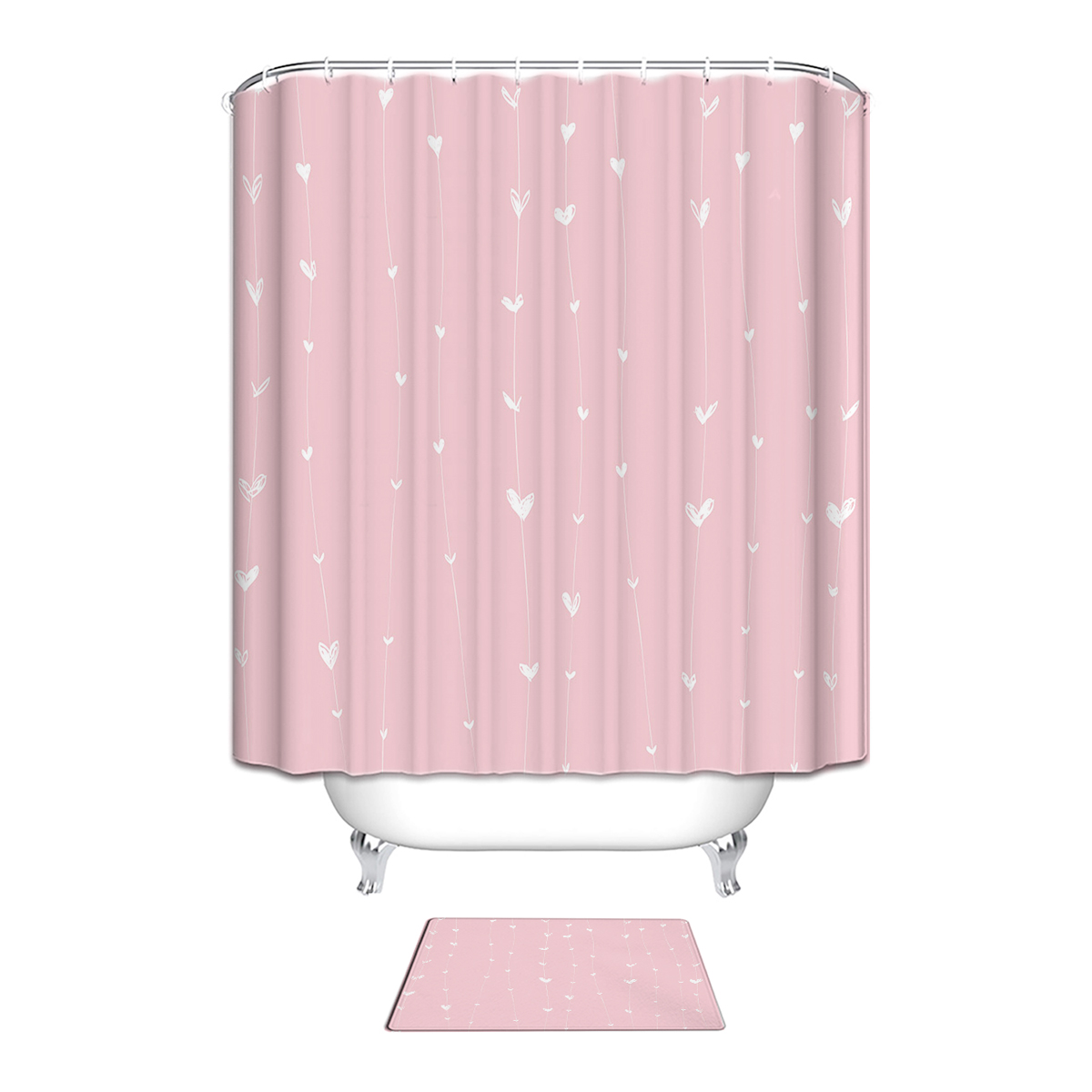 Waterproof Fabric Bathroom Shower Curtains Set Shower