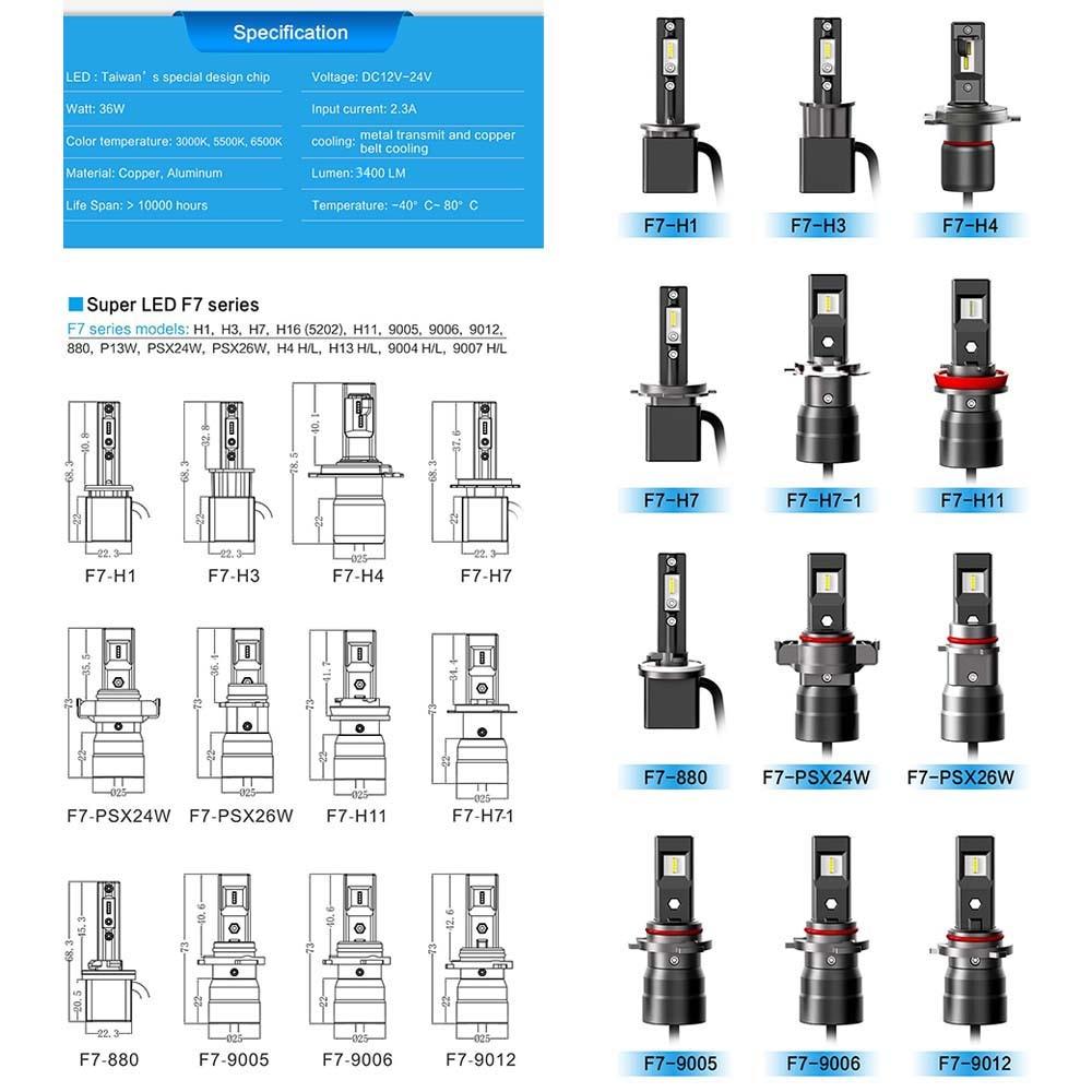 2 Pack H13//9008 LED Headlight Bulbs SEALIGHT Super Bright Hi//Lo Beam LED Headlamp with Fan 6000K Xenon White 3 Year Warranty
