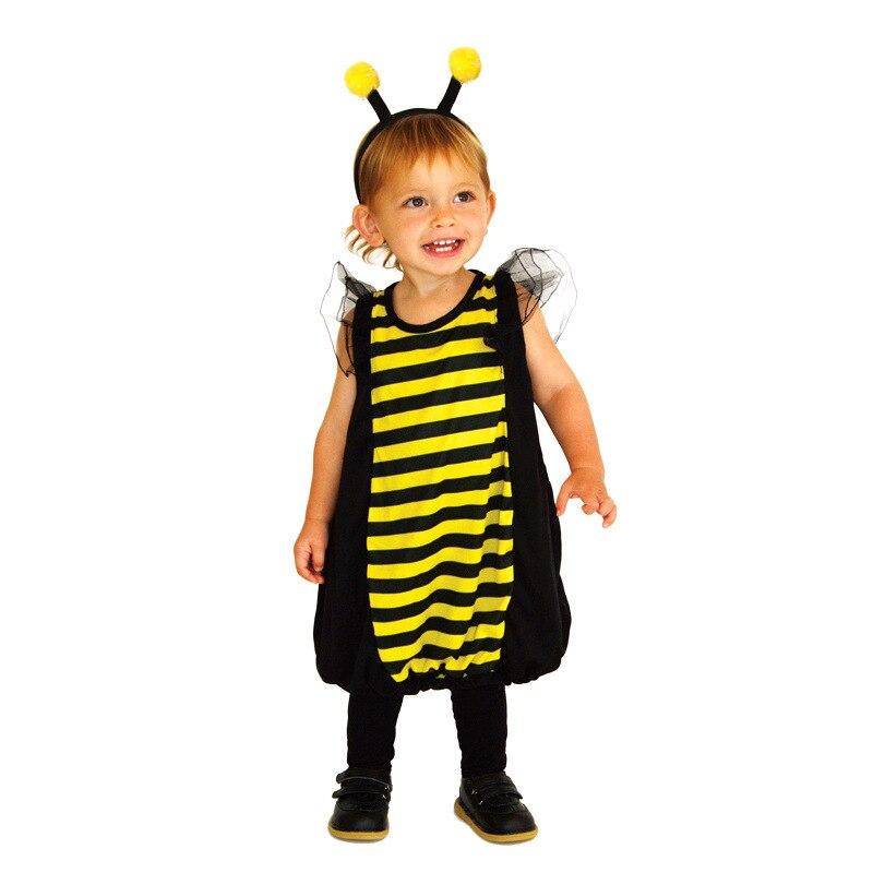 Хэллоуин вечерние Для детей животных Bumble Bee ошибки маскарадный костюм для девочек Пурим и карнавальные костюмы