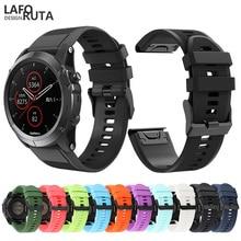 Laforuta Fitness Band for Garmin Fenix 5X 5 5S Plus 3 3HR D2 S60 Watch Quick Release Silicone Strap Women Men Sport Bracelet