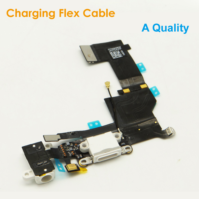 A Quality Replacement Charging Flex Cable for <font><b>iPhone</b></font> <font><b>5S</b></font> Headphone Jack USB Audio MIC Port Socket Dock <font><b>Connector</b></font> for iPhone5S image