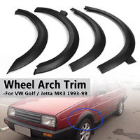 4pcs For Fender Flares Univeasal For Car Wheel Arch Trim Set For VW Golf For Jetta Cabrio MK3 ABS Plastic Mudguards Sticker