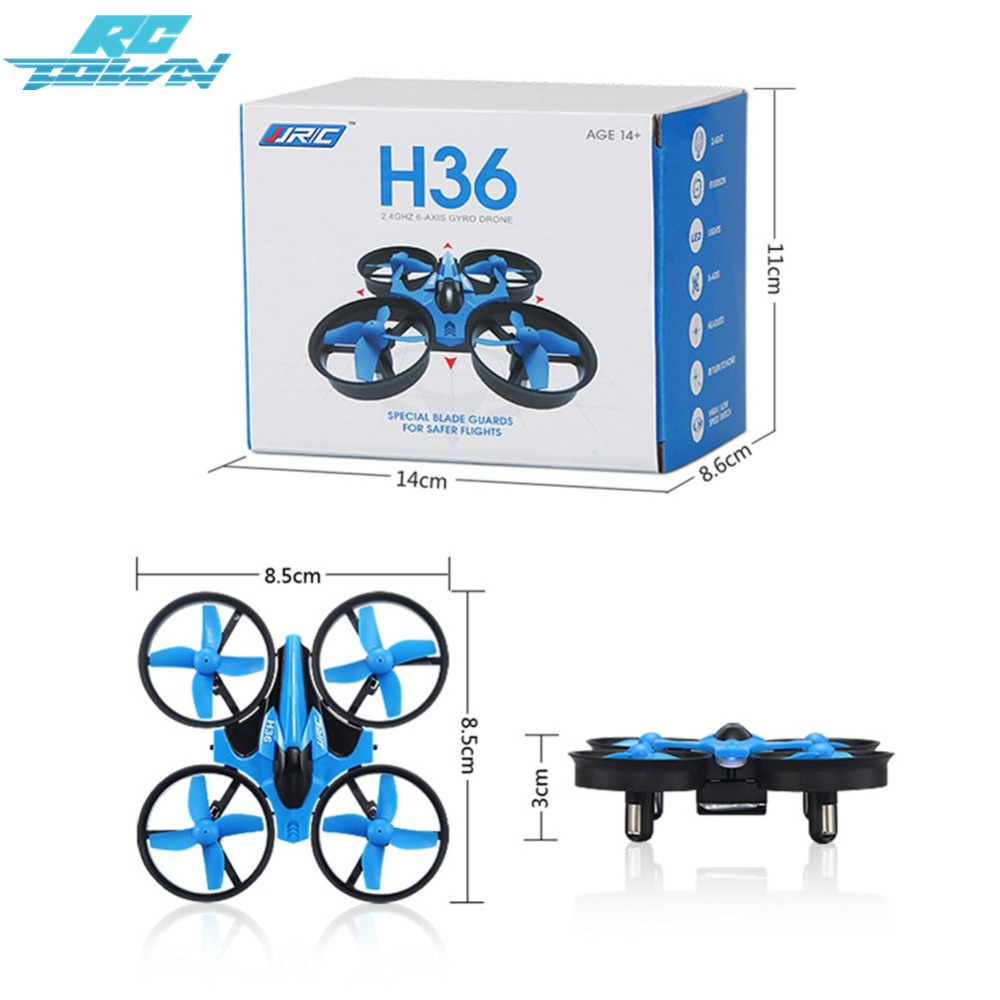 RCtown H36 Mini RC Drone 2.4GHz 4CH 6 Axis Gyro RC Quadcopter Headless Mode Drone Flying Helicopter racing drone zk30