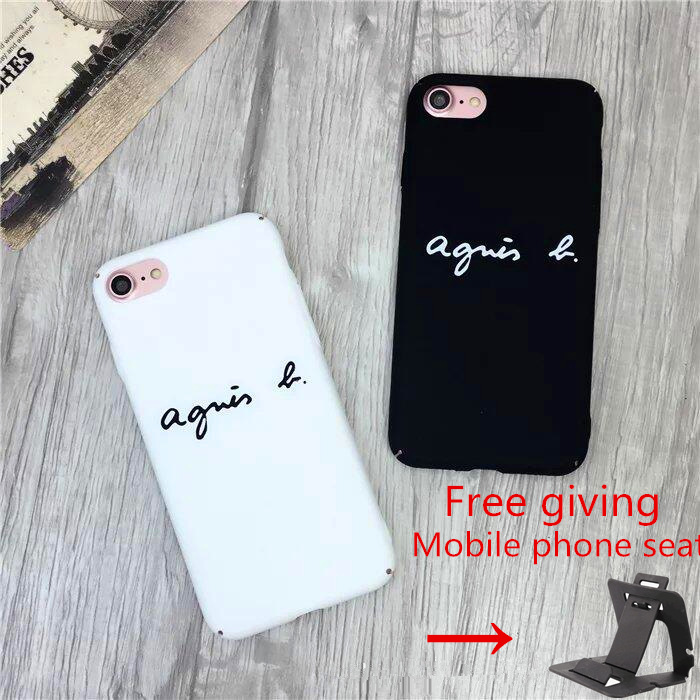 Fashion Contracted Creative Brand Matte PC agnes b back cover For iPhone 6 6s 6Plus 7 7 Plus Phone case + Send gifts