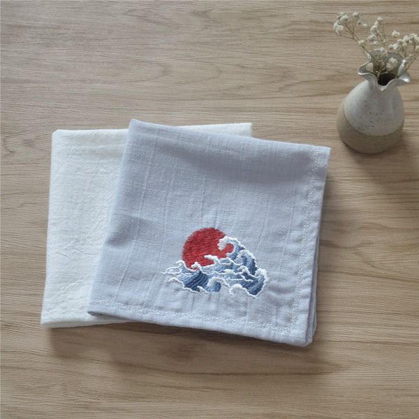 The Sunrise Chinese Wind Restoring Ancient Ways Christmas Man Embroidery Flower Handkerchief Birthday Gift