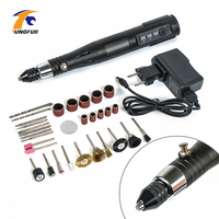 Tungfull Collet Cordless Rotary Tool Three Speed Pen Tool Set Kit Cordless Drill Charged Drill Charging