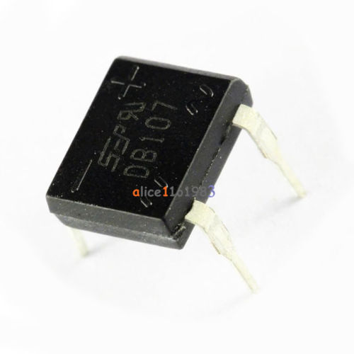 5PCS DIP- 4 DB107 1A 1000V Single Phases Diode Rectifier Bridge
