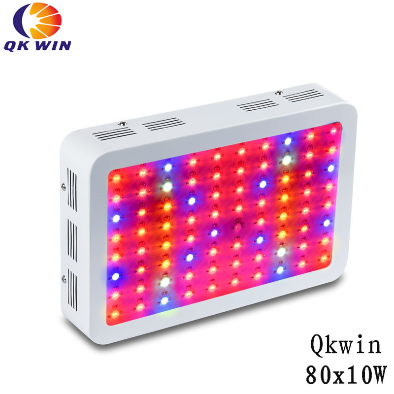 Qkwin 800W Double Chip LED Grow Light 80x10W Full Spectrum 410-730nm For Indoor Plants and Flower with Very High Yield