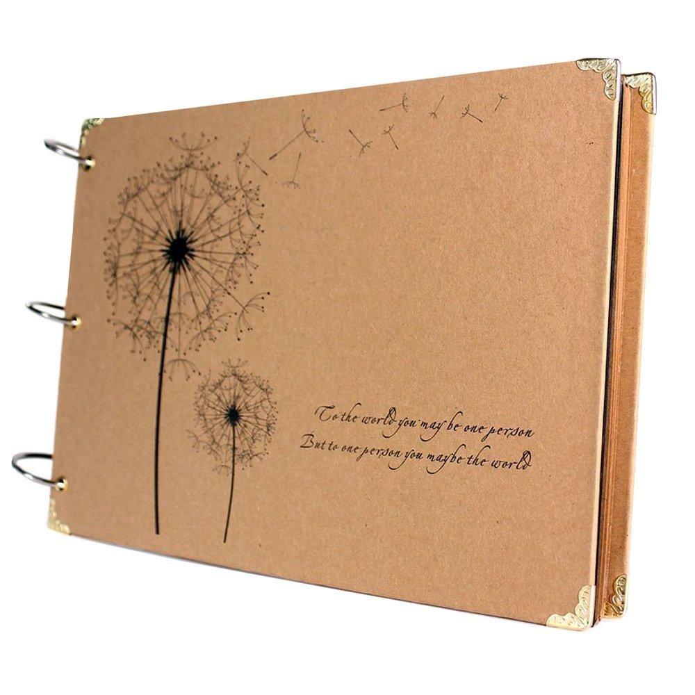 Printed Album: Scrapbook Vintage Photo Albums With Semi Transparent