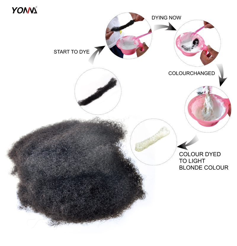 Yotchoi 1pcs/lot tight afro kinky bulk hair 100% human hair for dreadlocks,Twist braids natural balck colour 1B# weight 1ounce