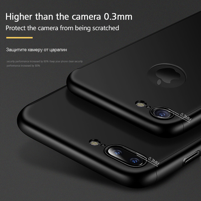 360 Full Cover Phone Case For iPhone XS MAX XR X Case For iPhone 6 6s Plus 5 5S SE Case With Tempered Glass For iPhone 7 8 Case