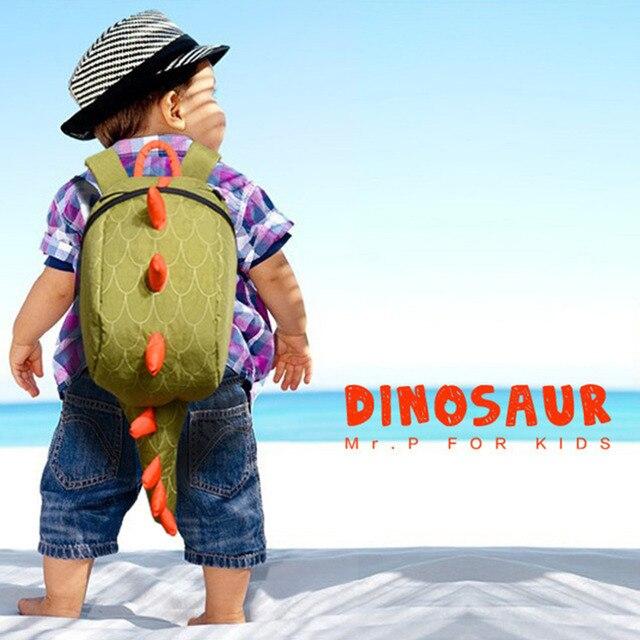 Dinosaur Backpack Dragon Waterproof School Bag Boy Girl Cartoon Kindergarten Worldwide Sale Bags Fashion Green  Dragon Back