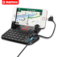 Remax Mobile Phone Car Phone Holder With Charger By USB Cable For IOS Phone Android Phone