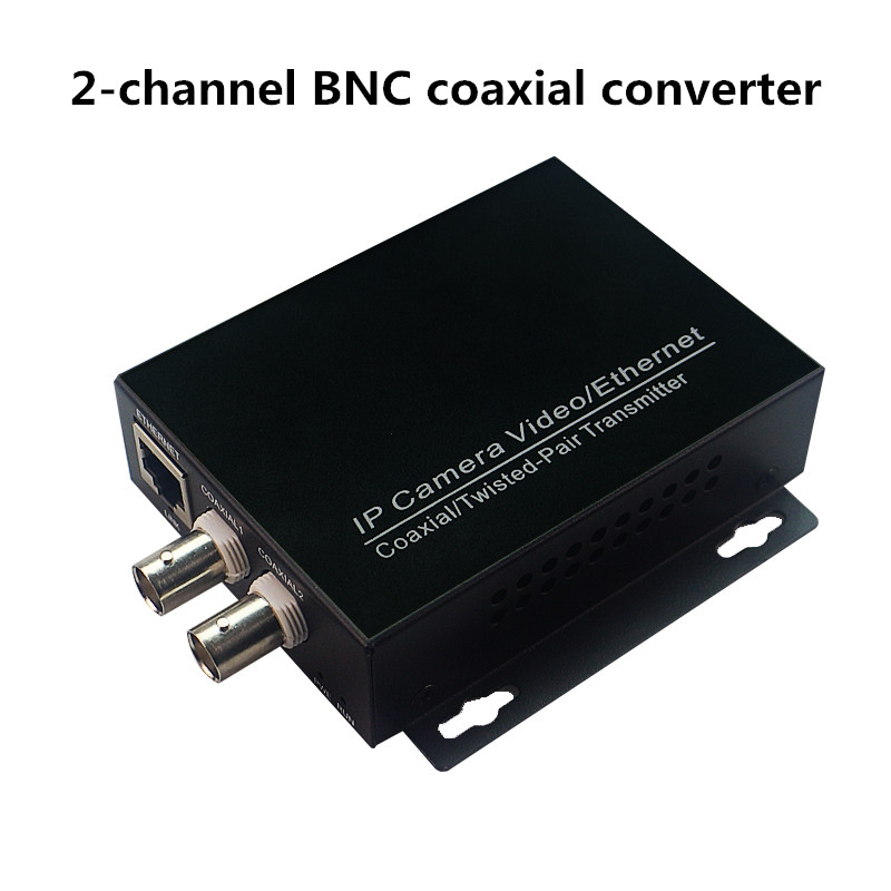 Ethernet IP Over Coaxial Converter EOC Coaxial For IP Camera CCTV Converter Ethernet Over Coax Transmission Up To 2KM