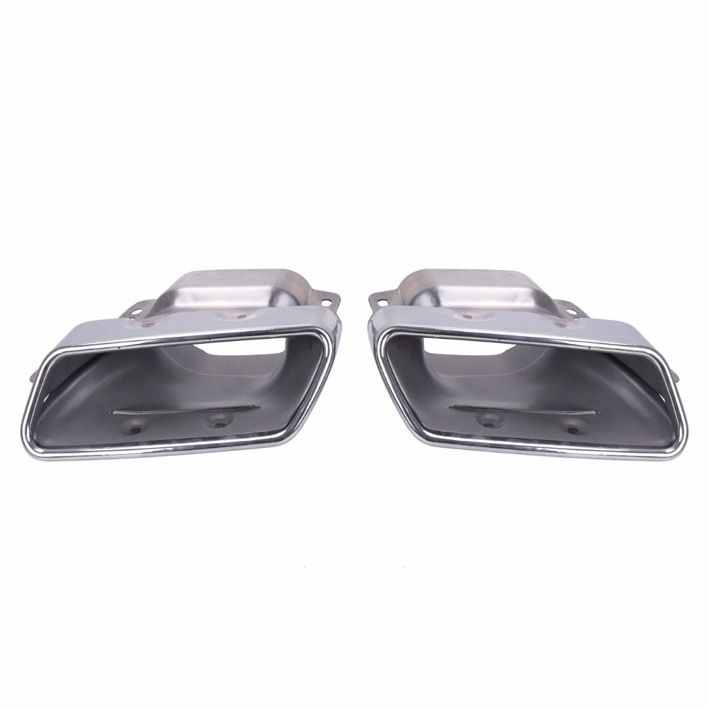 1pair Car Accessorise Brand Stainless Steel Hole Rear Exhaust Pipe Tip Muffler For Mercedes Benz W221 W164 AMG 2005 - 2013 // 1pair car accessorise brand stainless steel hole rear exhaust pipe tip muffler for mercedes benz w221 w164 amg 2005 2013